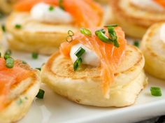 Salmon and cream cheese canapes