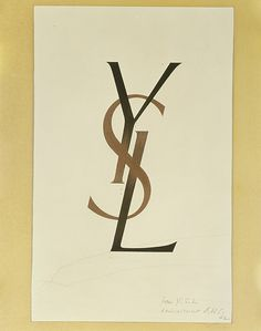 CASSANDRE-SAINT-LAURENT-LOGO-YSL-HAND-PAINTED-ORIGINAL