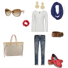 Spring casual outfit, created by stephanie-reynolds.polyvore.com