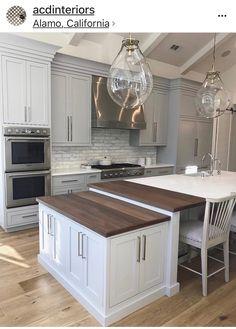 Kitchen Hardware, Kitchen Extensions, Contemporary Kitchens, House Goals,  Big Boy Bedrooms, Island Design, Kitchen Islands, Dream Kitchens, Kitchen  Designs