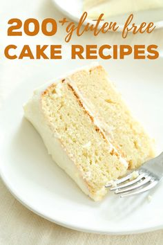 Over 200 gluten free cake recipes. No matter how health-conscious you are, sometimes you just need cake! Everything from red velvet and one bowl chocolate cakes to the best moist and tender vanilla cake of your life—it's all here. #glutenfree #cake #glutenfreerecipes #gf