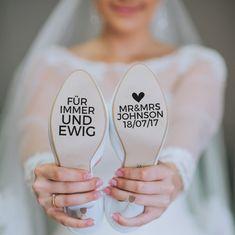 Accessoires - Schuhaufkleber für deine Hochzeit! - ein Designerstück von Herzpost bei DaWanda