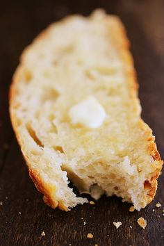 No-Knead Crusty Artisan Bread - INGREDIENTS: 3 cups all-purpose flour  2-3 teaspoon kosher salt  1/2 teaspoon dry yeast (active dry or highly active dry work best)  1 1/2 cups lukewarm water  Special cookware needed: Dutch oven or any large oven-safe dish/bowl and lid*
