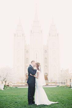 Salt Lake Temple wedding pictures Jessie Alexis Photography: Lisa + Ryan: Bridals