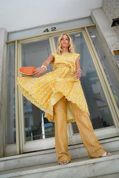 Vintage Yellow, My Outfit, Jumpsuit, Outfits, Dresses, Fashion, Overalls, Vestidos, Moda