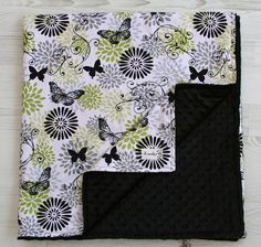 Gender Neutral Butterfly Minky Baby Blanket From Kemaily. $42.95, via Etsy.