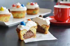 Cupcakes m&m's coeur Nutella