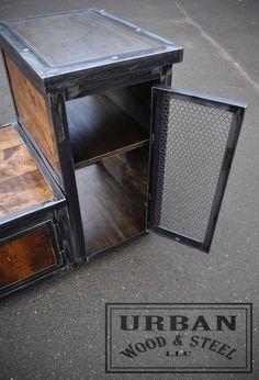 Custom Steampunk Vanity by urbanwoodandsteel on Etsy