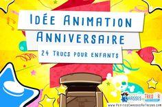 24 idées d'animation pour un anniversaire d'enfant. Voici une liste de 24 jeux et activités à faire pour l'anniversaire de tes enfants.