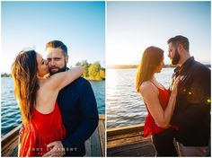 Golden Hour engagement photos by Jenny Storment Photography in Seattle, WA | Greenlake park