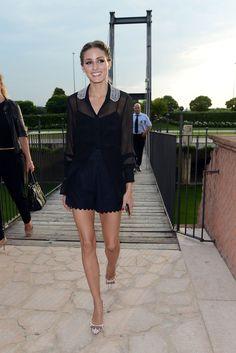 black scalloped shorts (Olivia Palermo)