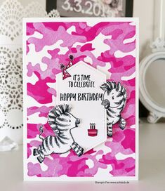 Card Making Inspiration, Making Ideas, Homemade Christmas Cards, Kids Birthday Cards, Stamping Up Cards, Bird Cards, Animal Cards, Zebras, Your Cards