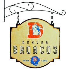 Denver Broncos Winning Streak Retro 1993 Tavern Pub Bar Metal Sign (16x16) - One Size / Beige