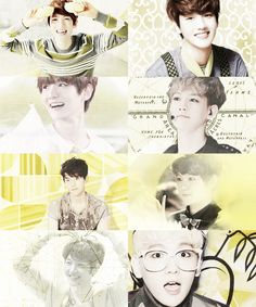 """ Color meme : Baekhyun + yellow ( requested by anon ) """