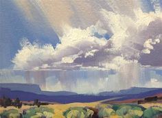 "Daily Paintworks - ""Valley Storms 6"" - Original Fine Art for Sale - © Mary Jabens"