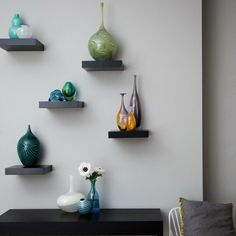 Shelves Living Room Opening Asymmetrically