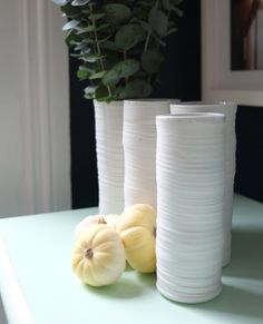 Textured Cylinder Vases 00 by WrenLab on Etsy, $30.00