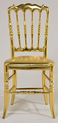 Silla soleil Gold - Chair Soleil Gold .@@@@......http://www.pinterest.com/marrikanakk/don-t-like-it-spray-it-with-gold/