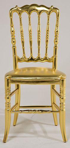 Silla soleil Gold - Chair Soleil Gold .@@@@......http://www.pinterest.com/marrikanakk/don-t-like-it-spray-it-with-gold/