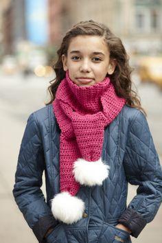 Free #Crochet Pattern: The Pom #Scarf