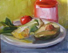 "Daily Paintworks - ""Hot sauce"" - Original Fine Art for Sale - © Joanne Kaczowka"