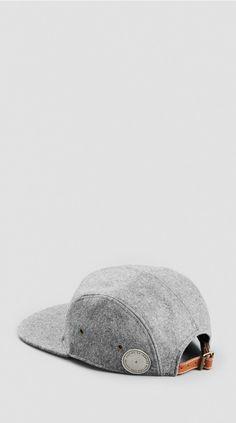 Grey Melton Five Panel Cap