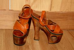 '70's platform shoes (when we wore shoe other than flip flops)