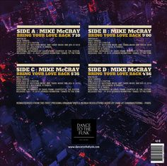 Back cover of 2 x 12'single vinyl. Remasterised  You will acquire a real collectible object in limited edition. 500 copies for the whole world! The sound was remastered from the original vinyls in high definition audio. The cover was specially designed by a Talent graphic designer. Everything is gathered to make your collection valuable.. Order quickly before my out of stock. Available www.dancetothefunk.com Record Company, Vinyls, High Definition, Vinyl Records, Audio, Bring It On, Graphic Design, Make It Yourself, The Originals