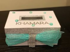 DIY Personalized Bling Card Box - YouTube
