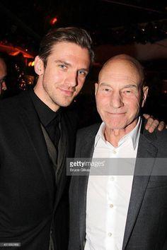 Dan Stevens and Patrick Stewart