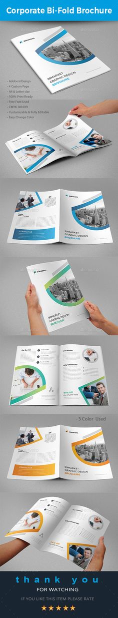 BiFold Brochure #project #brief  • Download here → https://graphicriver.net/item/bifold-brochure/20755150?ref=pxcr