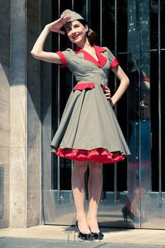 Rockabilly Military Dress