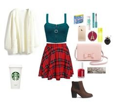 """""""2nd outfit for Thanksgiving"""" by jenniferr23 ❤ liked on Polyvore featuring Element, H&M, Ted Baker, Betsey Johnson, Victoria's Secret, Maybelline, Michael Kors, Aéropostale, Essie and Urban Decay"""