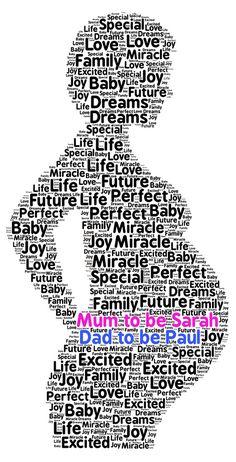Mum To Be Personalised Word Art  Baby Shower New Mum Gift #SandraCraftyCardz #NewBaby