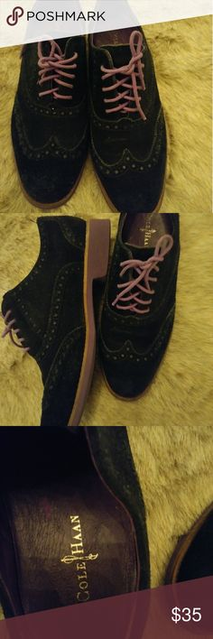 cole haan alisa wing tip anthropologie size:7 cole haan alisa wing tip  anthropologie black