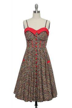 Cherry soda sweetheart dress $82.99