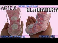 Gladiadora em Croche Sandalia - Professora Fernanda Reis - PARTE 1 - YouTube