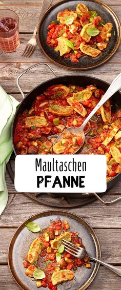 Ravioli Maultaschenpfanne The quick saddle pan brings variety to the plate and not only brings a smile to the face of the little ones. Discover the REWE recipe! www. Ravioli, Vegetarian Recipes, Snack Recipes, Healthy Recipes, Dumpling, Pasta Recipes, Cravings, Healthy Snacks, Food Porn