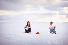 Salt Flats Engagement Couple Pose