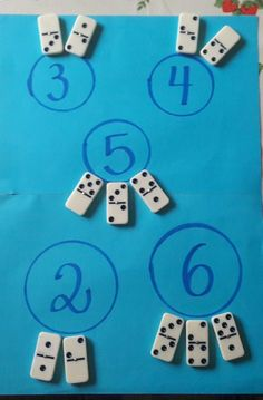Simple additions with dominoes for Early Childhood Education, # dominos . Math For Kids, Fun Math, Math Games, Math Activities, Preschool Learning, Kindergarten Math, Teaching Math, Kindergarten Addition, Early Learning