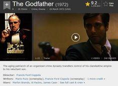 10 Film Rating Tertinggi Sepanjang Masa di IMDb Terbaru Lengkap Film Ratings, 10 Film, Francis Ford Coppola, The Godfather, Crime, Image, Crime Comics, Fracture Mechanics