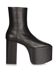 Platform leather ankle boots   Balenciaga   MATCHESFASHION.COM UK