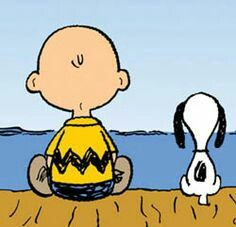 Charlie Brown and Snoopy. i used to have huge board shaped of Charlie Brown on my wall, love it