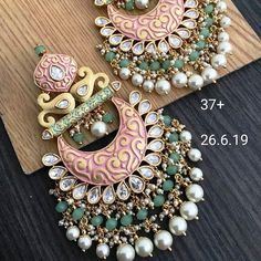 To Order Please Message or WhatsApp at Indian Jewelry Earrings, Indian Jewelry Sets, Fancy Jewellery, Jewelry Design Earrings, Gold Earrings Designs, Indian Jewellery Design, Stylish Jewelry, Bridal Jewelry, Tikka Jewelry