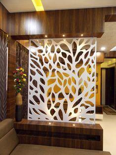 Glass Partition Designs, Living Room Partition Design, Pooja Room Door Design, Living Room Tv Unit Designs, Home Room Design, Home Interior Design, Living Room Kitchen Divider, Room Partition Wall, Bedroom Pop Design