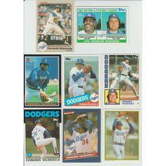 Huge 60 Different FERNANDO VALENZUELA RC 1981 - 2015 card lot Dodgers Padres