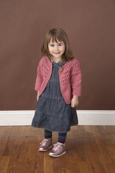 Free+Knitting+Pattern+-+Toddler+&+Children's+Clothes:+Eyelet+Yoke+Cardigan