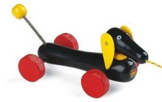 Doxy News. Wiener dog child pull toy - I am actually getting this for my dogs!!!  I think they will love it.  Super Cute puppy Items for your home.  The blog links you to the actual Dachshund item to buy.