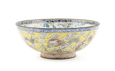 Chinese painted enamel on copper 'dragon' bowl, 18th century, 18cm, 2.2K️More Pins Like This At FOSTERGINGER @ Pinterest♓️