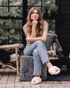 Outside living just a little bit cosier with sheepskin 🐏 @shepherdofsweden Outside Living, Just A Little, Mom Jeans, The Outsiders, Pants, Inspiration, Fashion, Trouser Pants, Biblical Inspiration